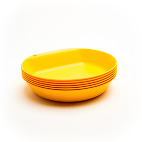 Wildo Camper Plate Deep Set Unicolor 6x, lemon